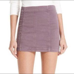 NWOT Free People Modern Femme Denim Mini Skirt